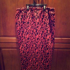 🔥sale!! Red/Black pencil skirt