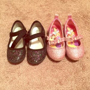 Other - Size 7 toddler girl glitter shoes