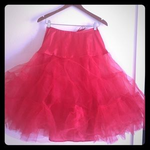 Dresses & Skirts - Red petticoat