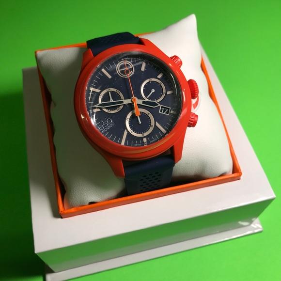 8e2714b29 Esq. Movado blue   orange new in box with tags