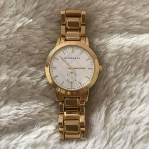 Accessories - Burberry gold watch