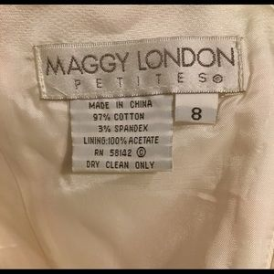 Maggy London Dresses - Used- Maggy London Petite Strapless Dress Size 8