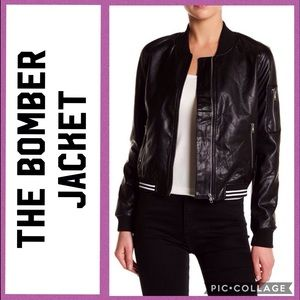 Jackets & Blazers - Quilted Faux Leather Bomber Jackets Small