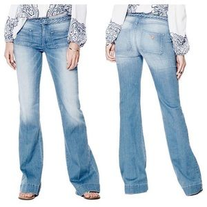 GUESS Braided Flare Jeans - 70S BLUE 2 WASH
