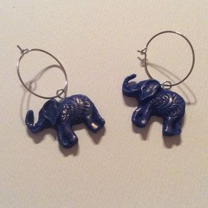 Jewelry - Little blue elephant earrings