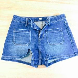 • Old Navy High-Waisted Dark Wash Shorts •