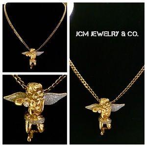 14K Gold Plated 3MM Cuban w/ Micro Angel Medallion