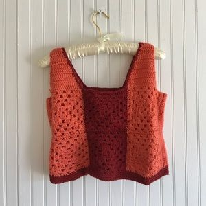 Vintage crochet crop top