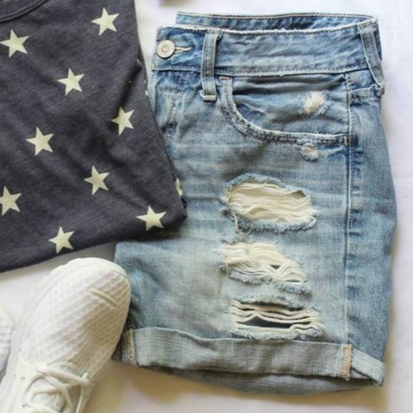 Hollister Shorts - Distressed Boyfriend Shorts