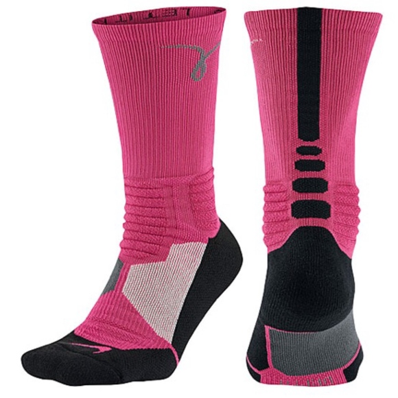 3199e886155c HyperElite Basketball Cushioned Sock - Pink Ribbon