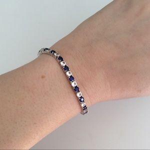 Jewelry - Sapphire Bracelet in Sterling Silver