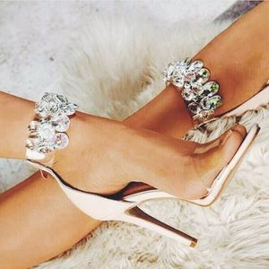🆕Suzzy Nude Chandelier Ankle Strap Clear Heel