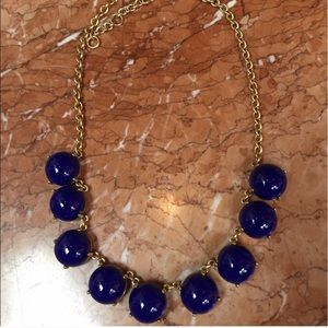 J. Crew royal blue bubble necklace