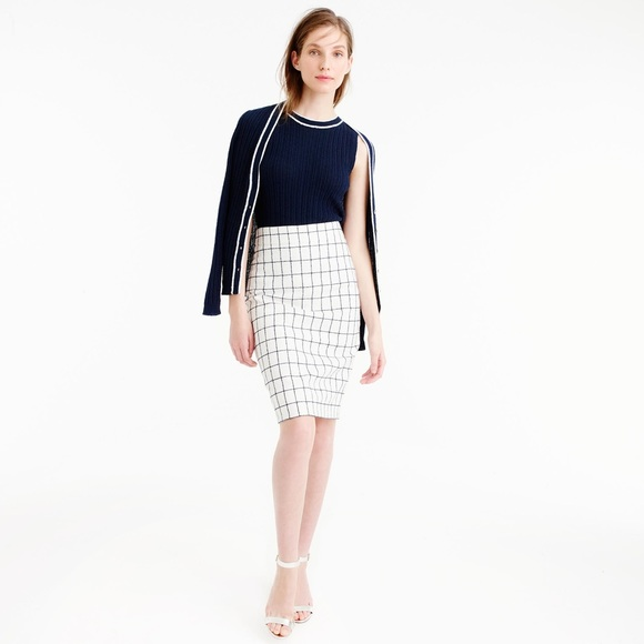 J. Crew Dresses & Skirts - J CREW Pencil skirt in windowpane tweed 00