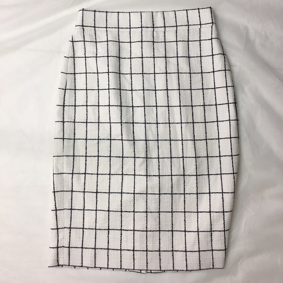 J. Crew Skirts - J CREW Pencil skirt in windowpane tweed 00
