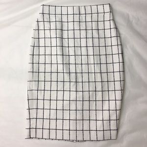 J. Crew Skirts - J CREW Pencil skirt in windowpane tweed 00