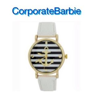 Accessories - NWT Striped Anchor Watch