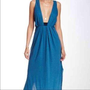 NWT Free People Blue Nike Maxi Dress