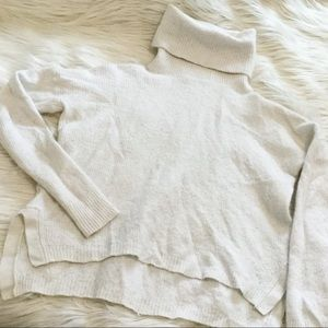 Madewell White Crop Top Sweater