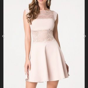 Gorgeous Bebe lace paneled dress