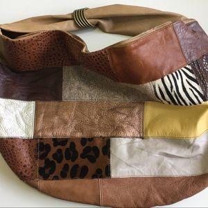 Handbags - SALE! Leather Patchwork Hobo Bag