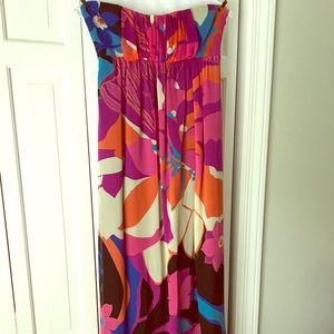 TIBI strapless high-low dress size 2