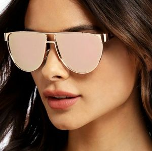 Accessories - Pink Flat Top Sunglasses