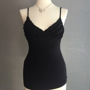 Express essential black spaghetti strap top XS