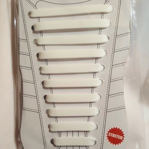 Shoes - Silicone Laces White