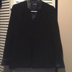 Black Elie Tahari jacket with leather details!!