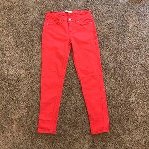 Hot pink Levi jeans