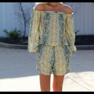 Other - Python Printed Romper