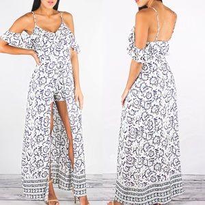 Dresses & Skirts - Paisley Romper Maxi