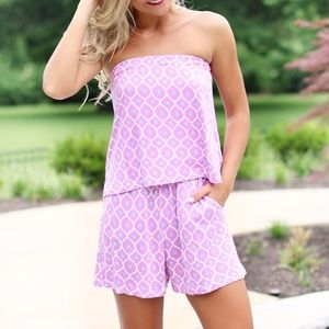 Other - Strapless, Printed Romper