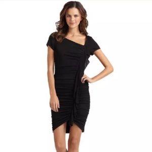 BCBGMaxAzria Black Asymmetrical Cocktail Dress