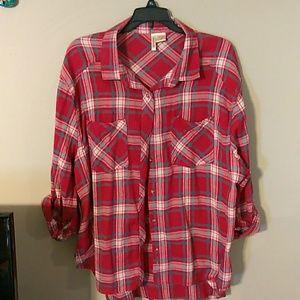 Tops - Quarter Sleeve Flannel