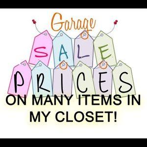 Tops - Garage sale prices