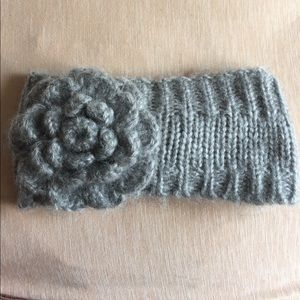 Accessories - Grey flower Head warmer