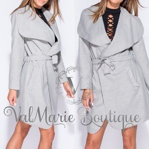 Grey Suede Feel Jacket