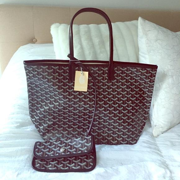 5e8c148bab5a0 NWT goyard black designer tote bag with wallet NWT