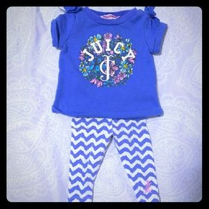 🌸2 piece juicy couture outfit! 3-6 months 🌸