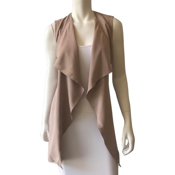 Artisan Ny Jackets & Blazers - Artisan NY Taupe Wrap Vest