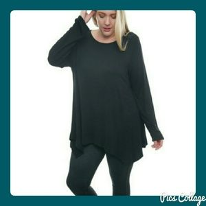 MOVING SALE!  Long-Sleeve Asymmetrical Tunic