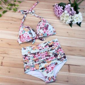 Other - ❤️SALE❤️ Cute floral high waist bikini