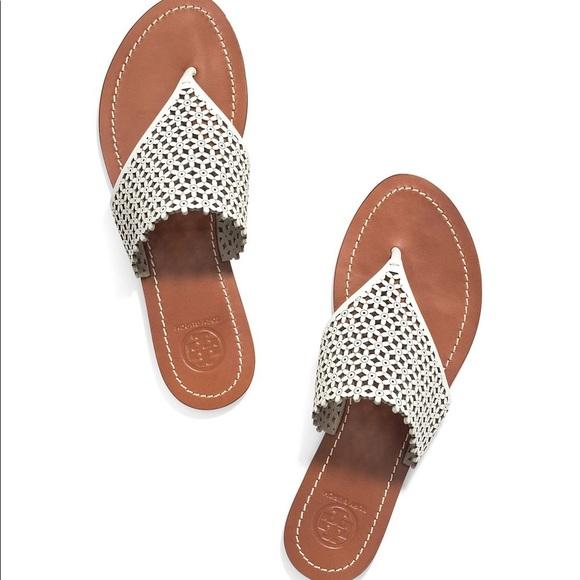 9971c179d4 Tory Burch Daisy Perforated Thong Sandal. M_598b96baa88e7deb520088a2