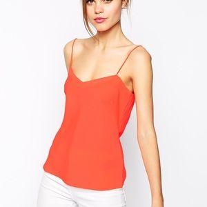 Ted Baker Orange Cami Top With Scallop Edge Detail