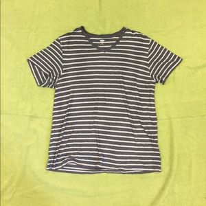 Other - Men's gray/grey striped v neck