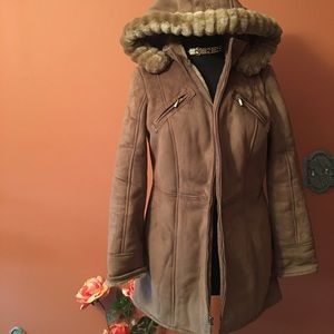 Braetan Hooded Faux Fur Coat