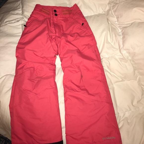 e4c8174ed0c8a Off columbia bottoms girls snow pants pink poshmark jpg 580x580 Columbia  girls snow pants
