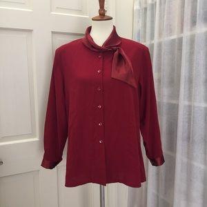 Tops - Woman's Button down shirt . Size L/XL
